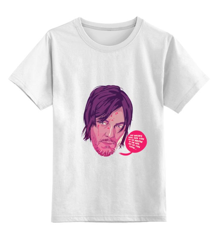 Детская футболка классическая унисекс Printio Дэрил диксон цена