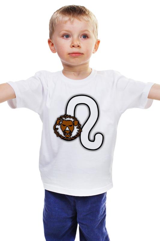 Детская футболка классическая унисекс Printio Знак зодиака лев. детская футболка классическая унисекс printio лев
