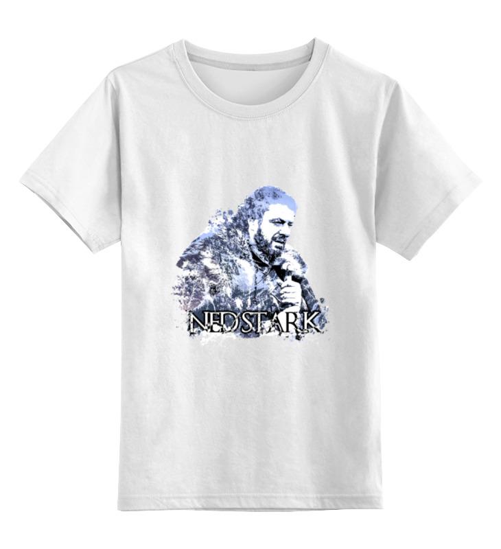 Детская футболка классическая унисекс Printio Ned stark из сериала игра престолов numbers board book ned
