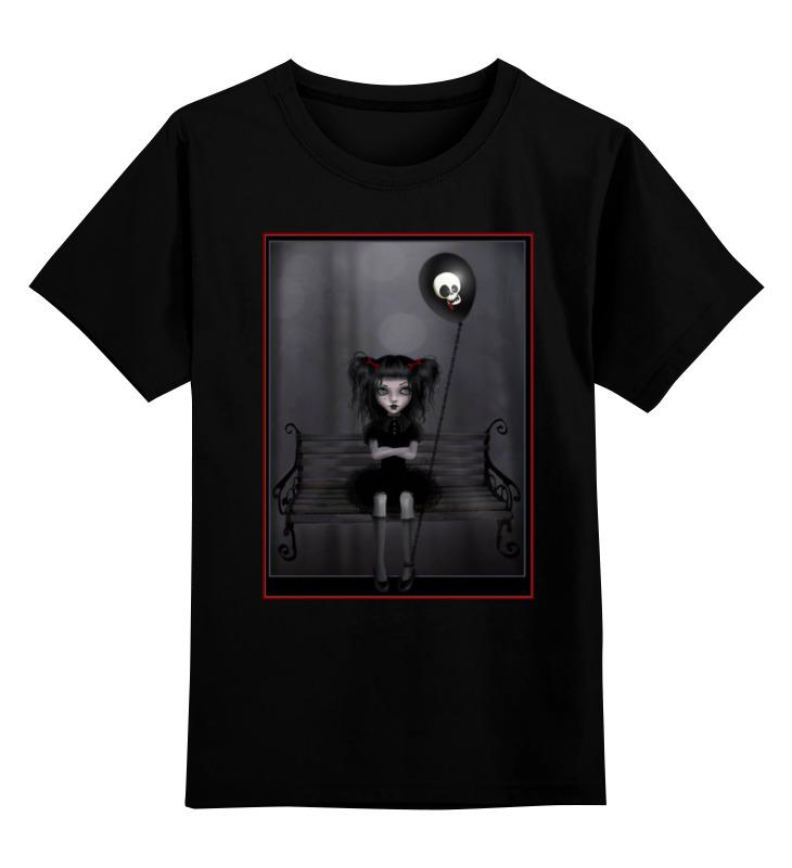 Детская футболка классическая унисекс Printio Готика, девочка и шар