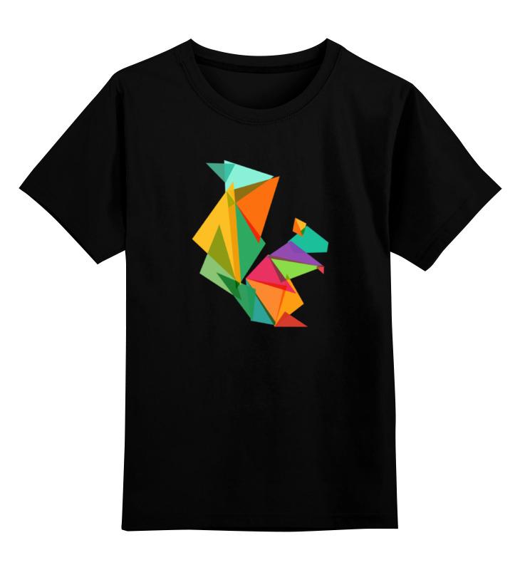 Детская футболка классическая унисекс Printio Геометрическая белка цена и фото