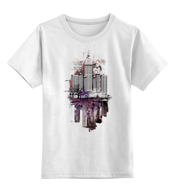 Детская футболка классическая унисекс Printio City art