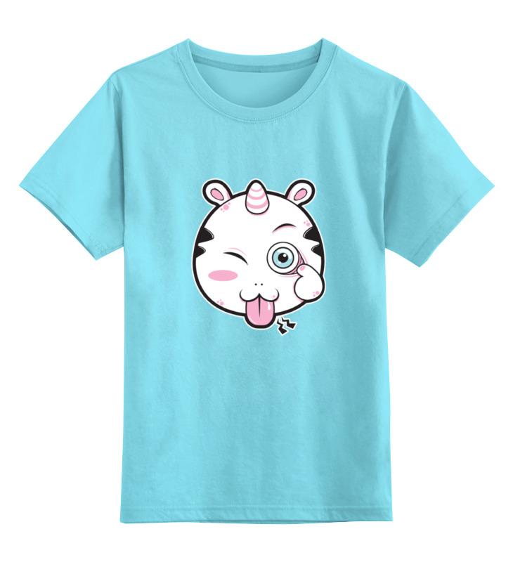 Детская футболка классическая унисекс Printio Забавный единорог