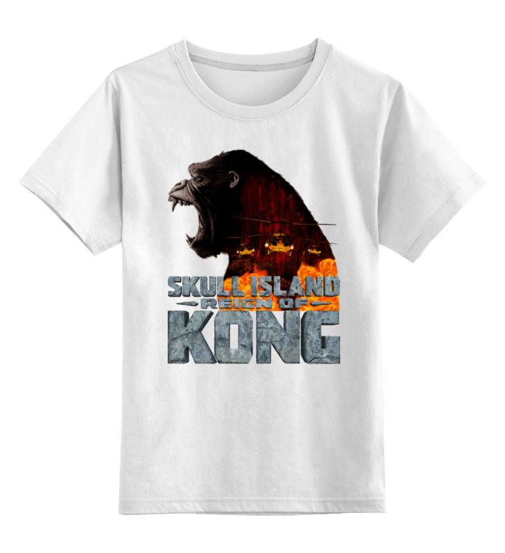 Детская футболка классическая унисекс Printio Skull island