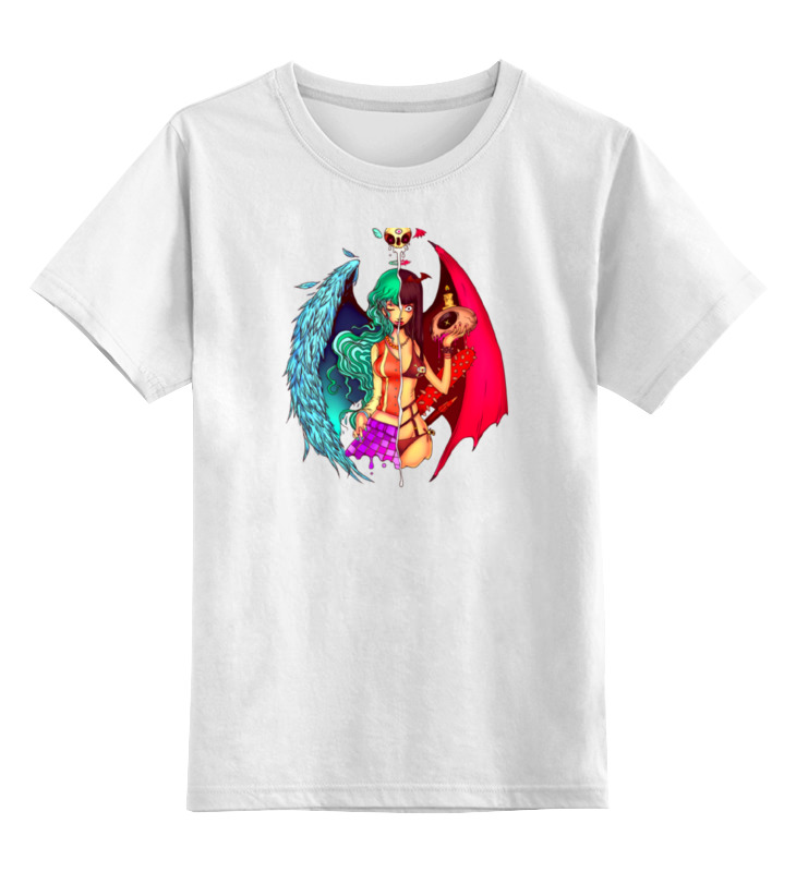 Детская футболка классическая унисекс Printio Ангел  демон