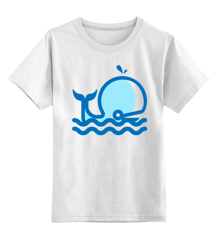 Детская футболка классическая унисекс Printio Кит на море футболка классическая printio кит ричардс