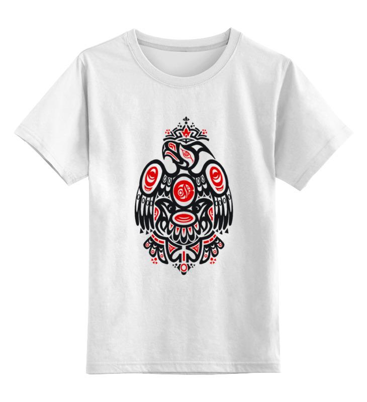 Детская футболка классическая унисекс Printio Полинезийский орел детская мебель орел