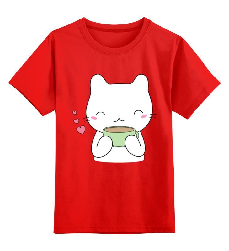 Детская футболка классическая унисекс Printio Милый котик smoby детская горка king size цвет красный