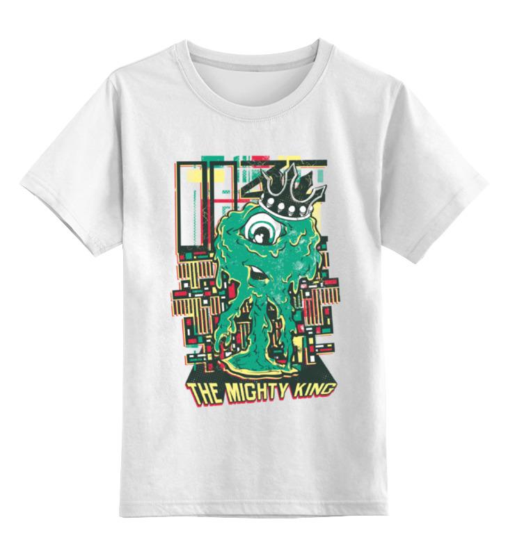 Детская футболка классическая унисекс Printio Зелёный монстрик цена и фото
