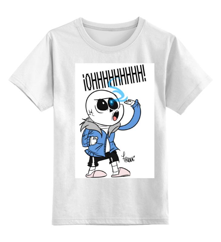 Детская футболка классическая унисекс Printio Санс из undertale детская футболка классическая унисекс printio санс