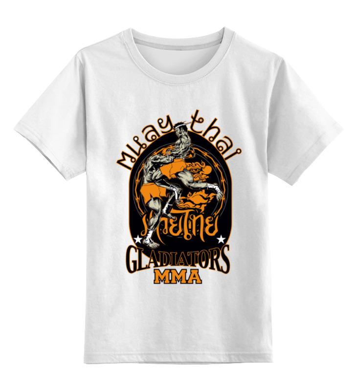 Детская футболка классическая унисекс Printio Muay thai 57 38 15cm curved taekwondo back kick pad target kickboxing mma punching foot pads karate targets muay thai focus punch padded