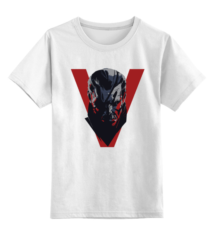 Детская футболка классическая унисекс Printio Big boss (metal gear solid)