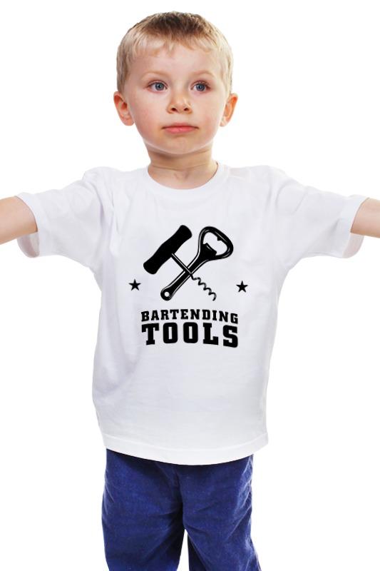 Детская футболка классическая унисекс Printio Набор бармена (открывашки) купить в спб библию бармена