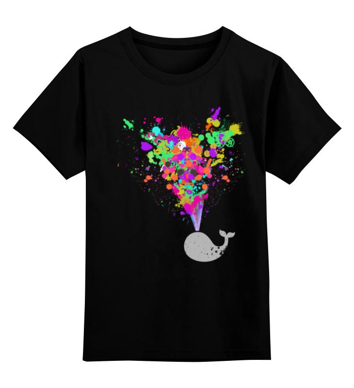 Детская футболка классическая унисекс Printio Серый кит футболка классическая printio кит ричардс
