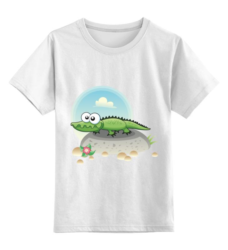 Детская футболка классическая унисекс Printio Крокодил