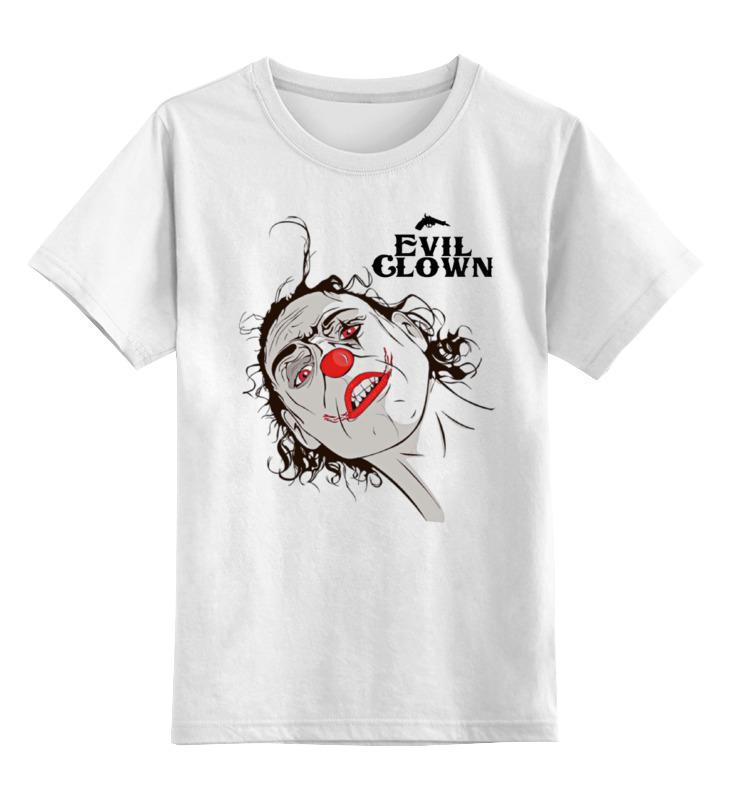 Детская футболка классическая унисекс Printio Evil clown
