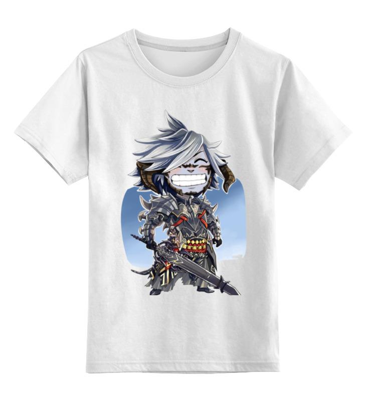 Детская футболка классическая унисекс Printio Воин с оружием цена