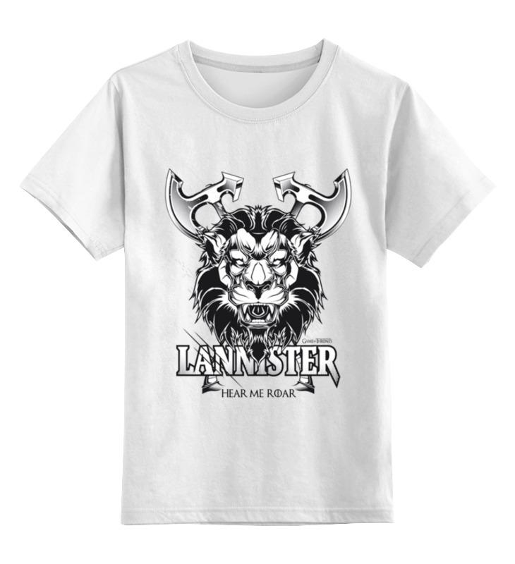 Детская футболка классическая унисекс Printio Лев ланнистеров (игра престолов) футболка классическая printio игра престолов дом ланнистеров