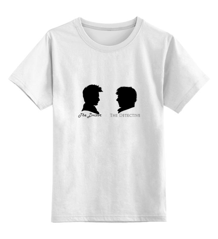 Детская футболка классическая унисекс Printio Доктор кто х шерлок холмс цена и фото