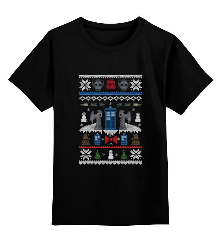 Детская футболка классическая унисекс Printio Новогодний тардис футболка классическая printio новогодний лось