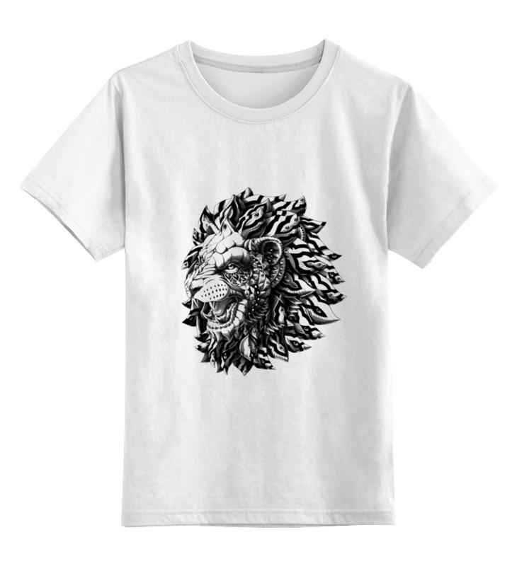 Детская футболка классическая унисекс Printio Лев царь футболка классическая printio лев царь зверей