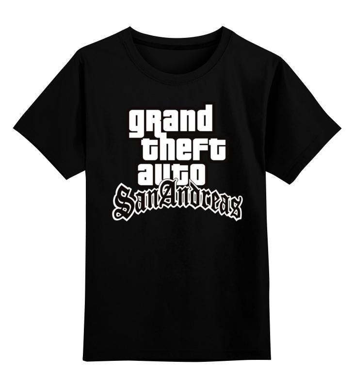 Детская футболка классическая унисекс Printio San andreas