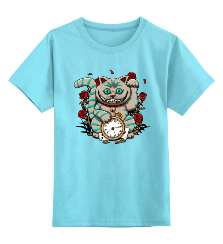 Детская футболка классическая унисекс Printio Чеширский кот (алиса в стране чудес) пейс п игра бродилка алиса в стране чудес