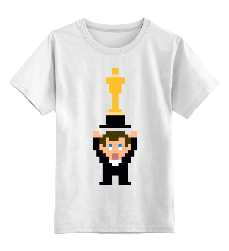 Детская футболка классическая унисекс Printio Ди каприо оскар (8 бит) толстовка wearcraft premium унисекс printio ди каприо оскар 8 бит