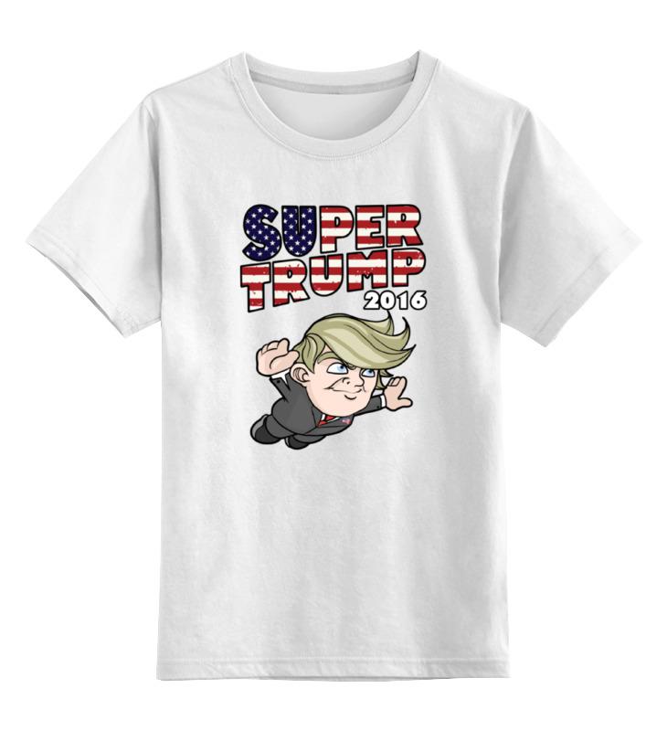 Детская футболка классическая унисекс Printio Супер трамп цена и фото