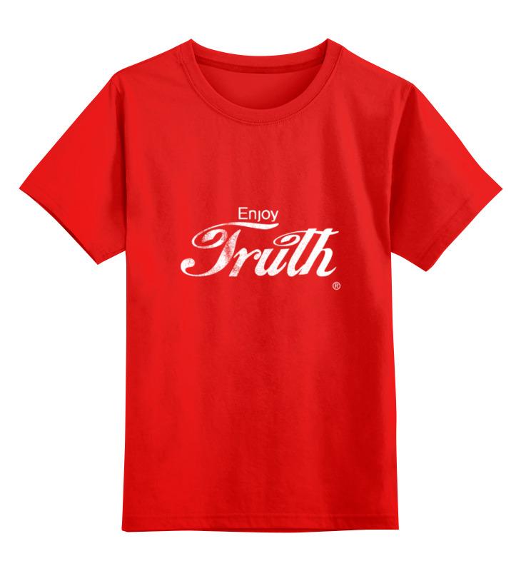 все цены на Детская футболка классическая унисекс Printio Coca cola enjoy truth!