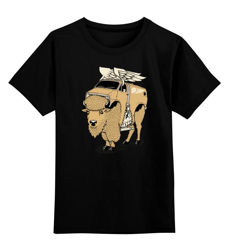 Детская футболка классическая унисекс Printio Yak bull / бык як цена