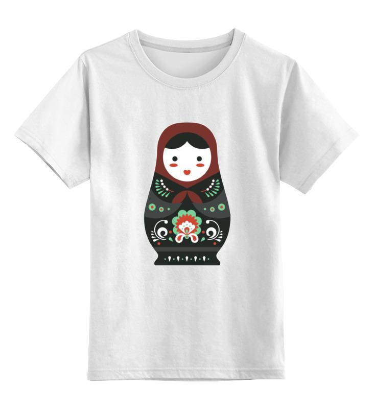 Детская футболка классическая унисекс Printio Матрешка
