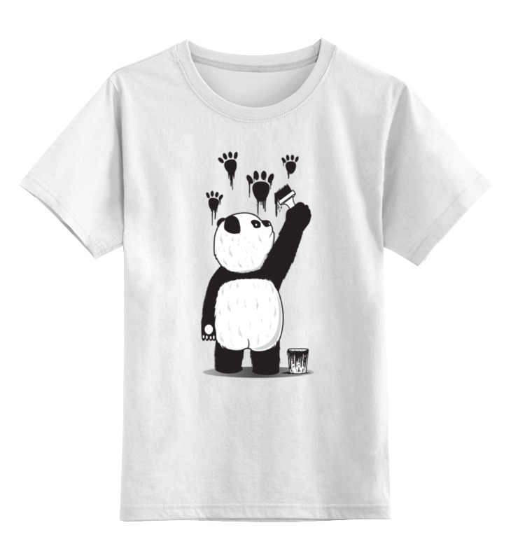 Детская футболка классическая унисекс Printio Панда вандал детская футболка классическая унисекс printio красная панда