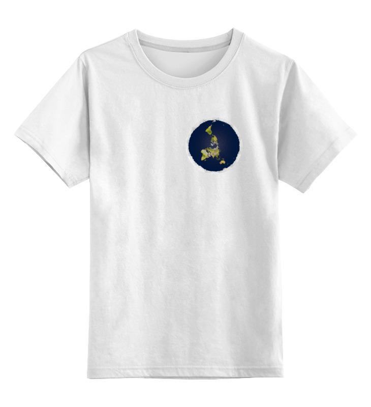 Детская футболка классическая унисекс Printio плоская земля (мужская, серая) андрей рехтин плоская земля вопросов больше нет