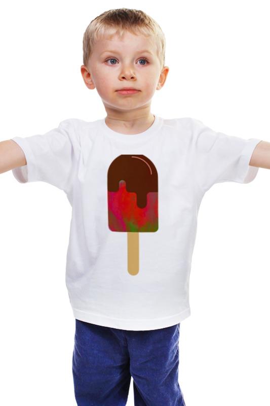 Детская футболка классическая унисекс Printio Ice-ice-ice cream ice pithos