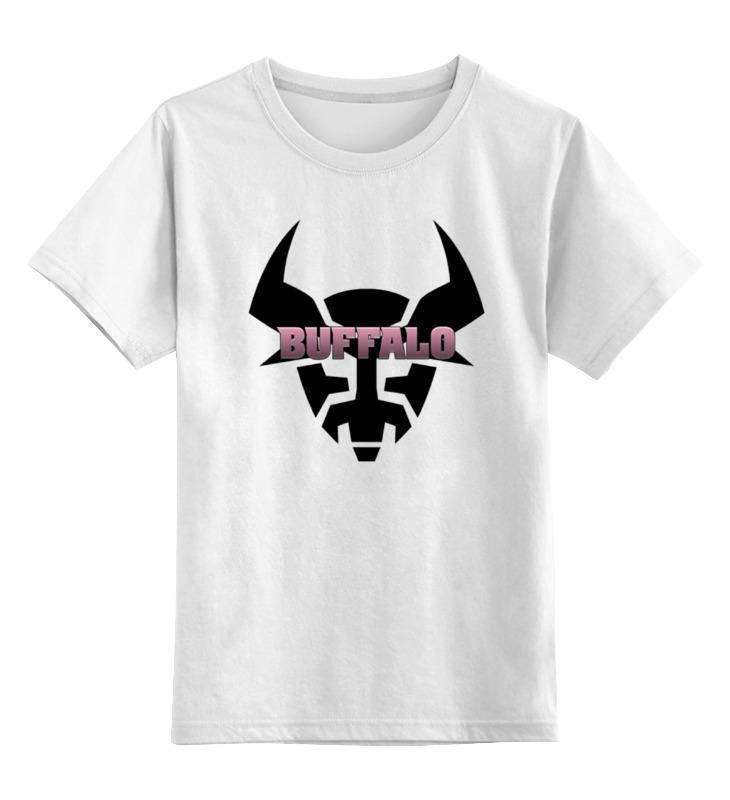 Детская футболка классическая унисекс Printio Бык buffalo