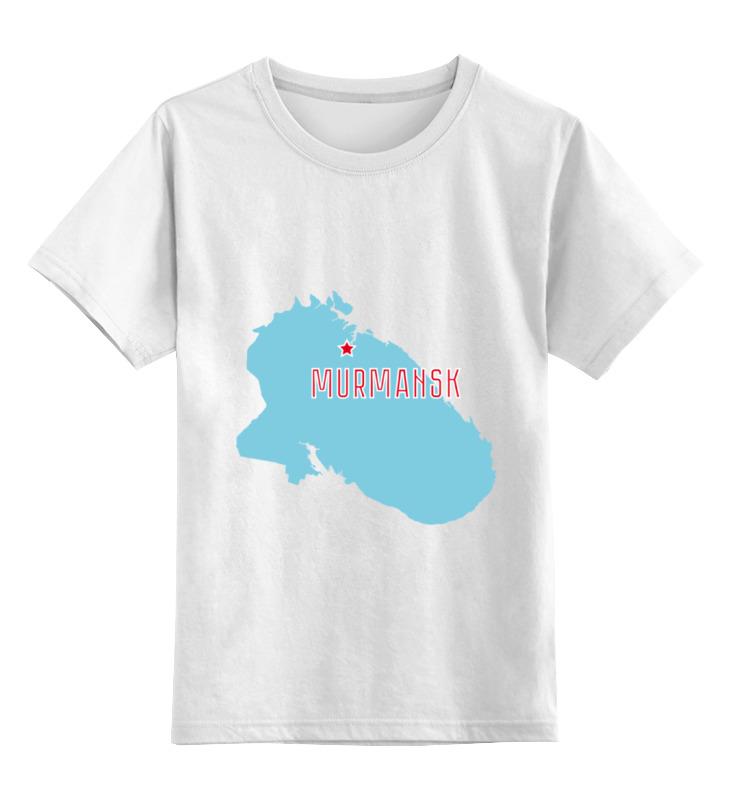 Детская футболка классическая унисекс Printio Мурманская область. мурманск