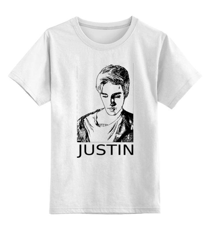 Детская футболка классическая унисекс Printio Justin bieber утюг браун 775