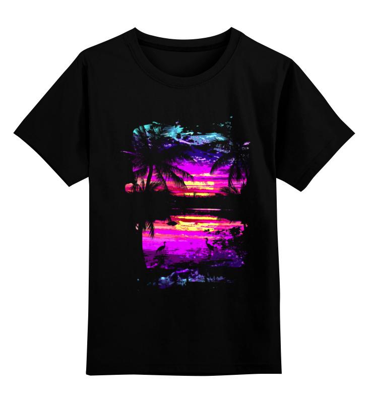 Детская футболка классическая унисекс Printio Пляжный рай