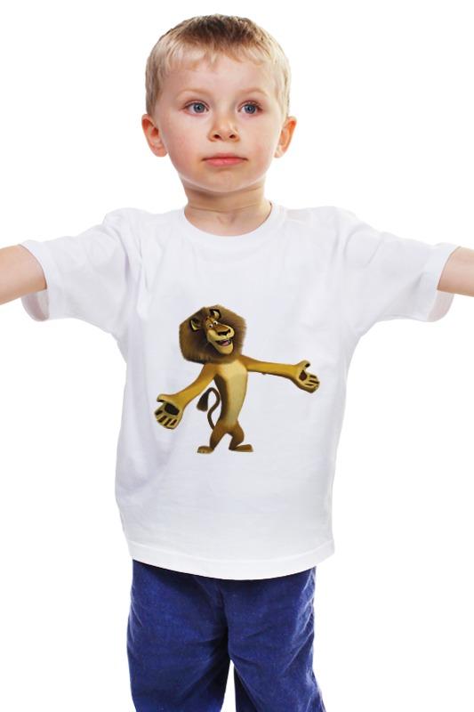 Детская футболка классическая унисекс Printio Лев алекс детская футболка классическая унисекс printio лев