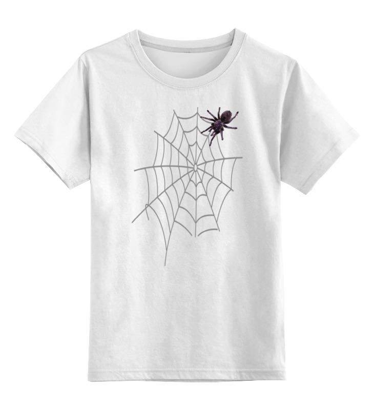 Детская футболка классическая унисекс Printio Большой паук большой мохнатый паук