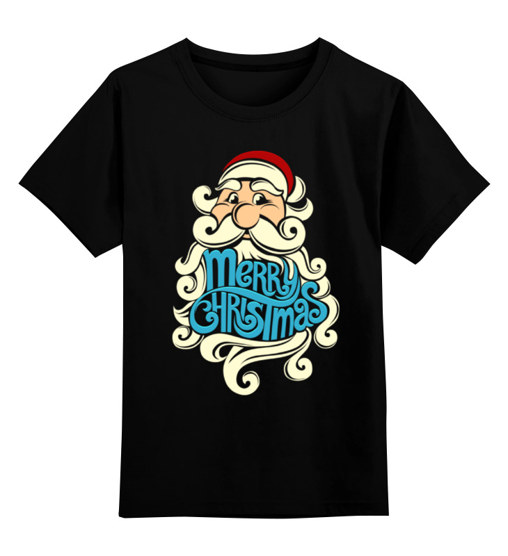 Детская футболка классическая унисекс Printio Дед мороз (santa) santa claus