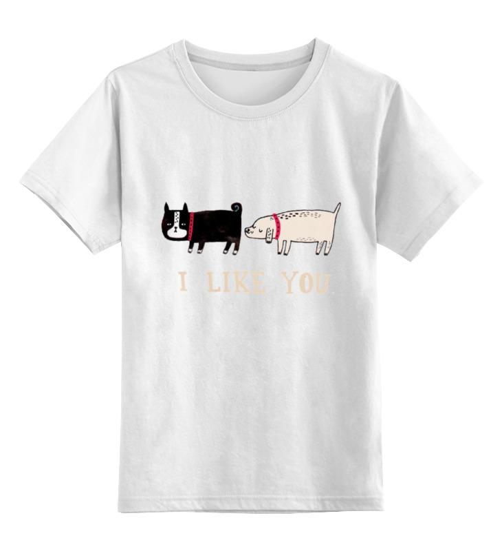 Детская футболка классическая унисекс Printio I likeyou майка классическая printio i likeyou