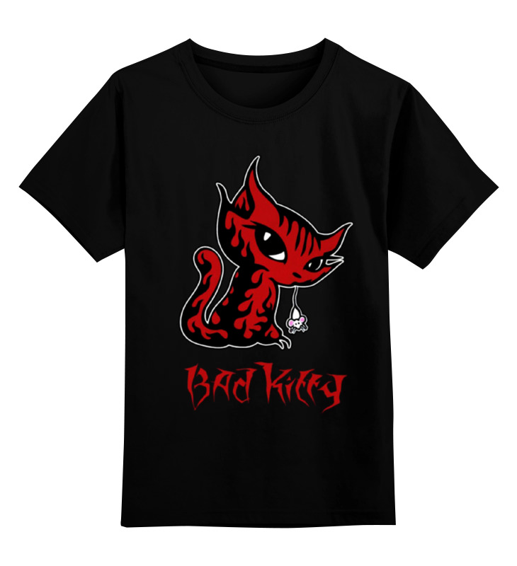Printio Bad kitty детская футболка классическая унисекс printio kitty throne