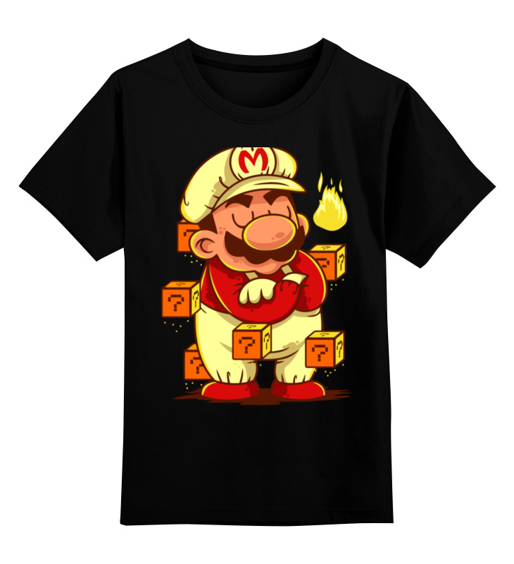 Детская футболка классическая унисекс Printio Марио