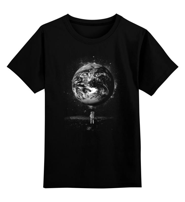Детская футболка классическая унисекс Printio Человек на луне цена
