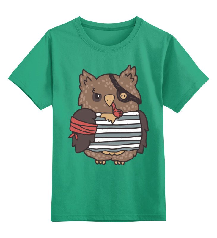 Детская футболка классическая унисекс Printio Сова-пират детская футболка классическая унисекс printio свинья пират