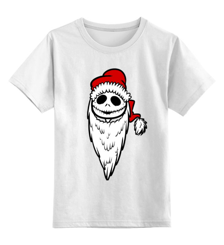 Детская футболка классическая унисекс Printio Jack santa (джек санта) santa claus