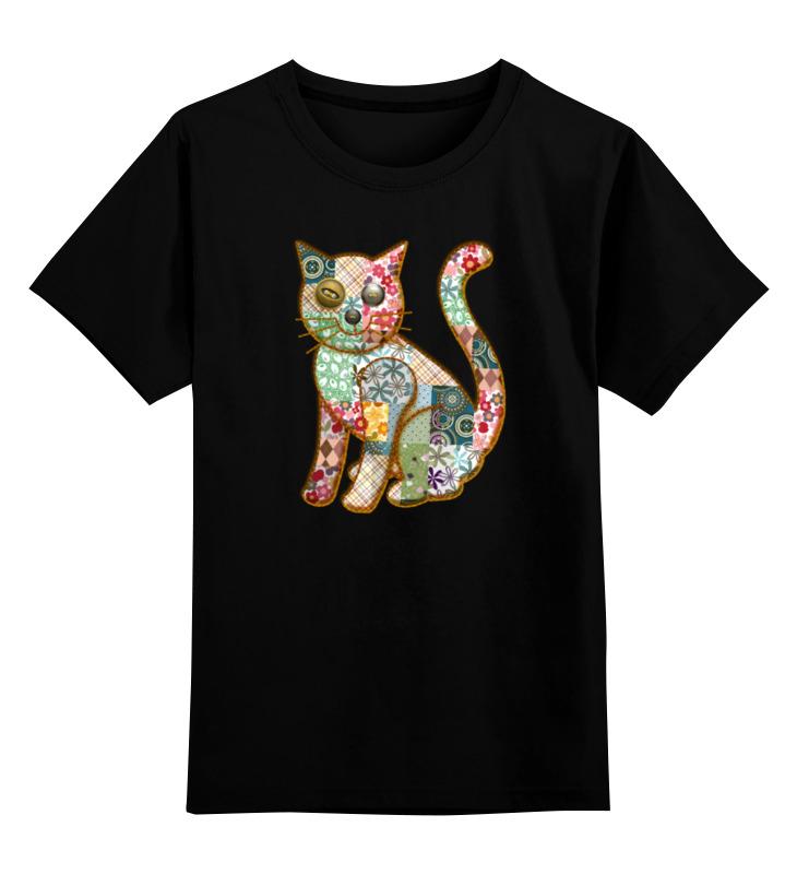 Детская футболка классическая унисекс Printio Лоскутный кот детская футболка классическая унисекс printio абстрактный кот