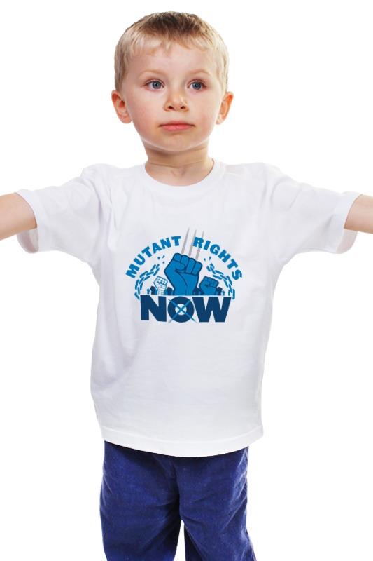 Детская футболка классическая унисекс Printio Mutant rights now лонгслив printio mutant rights now